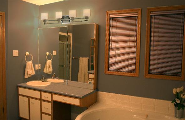 Updating Bathroom Light Fixtures  How To Update Oak And Brass