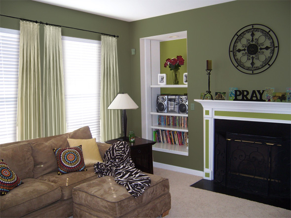 gallery for sage green wall paint
