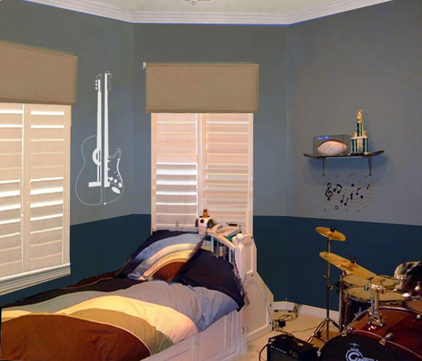 A teen room with personality mochi home mochi home - Blue bedroom paint ideas ...