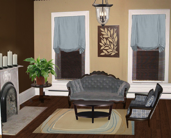 For A Ranch Style Home On Living Room Paint Schemes Brown Furniture