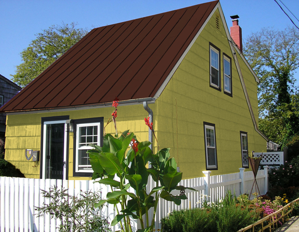 Raise the roof update on a summer cottage mochi home - Try out exterior paint colors online ...