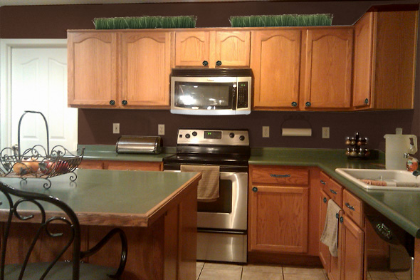 Genial Painted Kitchen Cabinets Dark Brown For Kitchen Paint Colors With Dark Brown  Cabinets