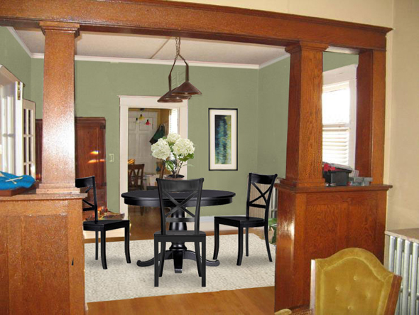 Multi colored interiors mochi home mochi home for Craftsman bungalow interior paint colors