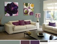 Color Study: Sage Green Living Room