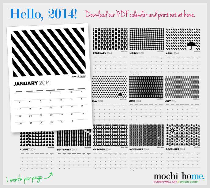 2014 Calendar Freebie