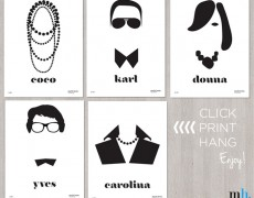 Friday Freebie: Fashion Icons